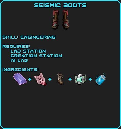 Seismic Boots recipe