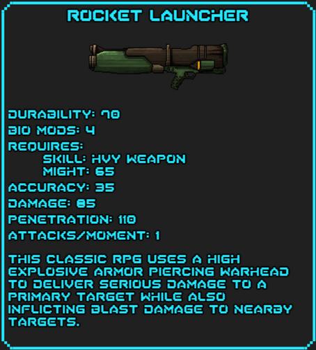 Rocket Launcher Info
