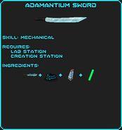 Adamantium Sword Recipe