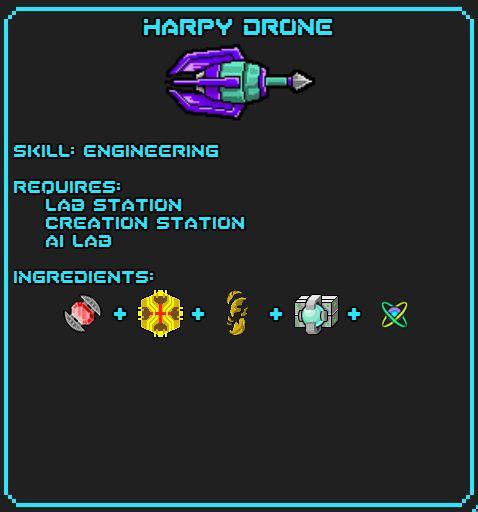 Harpy Drone Recipe
