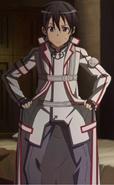 Kirito in K.O.B uniform