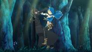 Philia colliding with Kirito