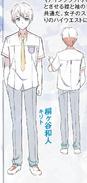 Kazuto's uniform design