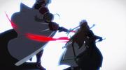 Heathcliff striking Asuna