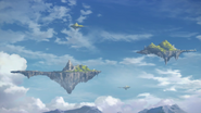 Floating islands surrounding Alne