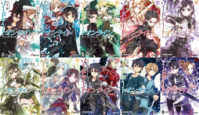 File:SAO Light Novels.png