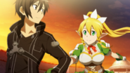 Kirito and Leafa in Hollow Area
