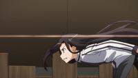 Kirito avoiding the NPC gunman's fire