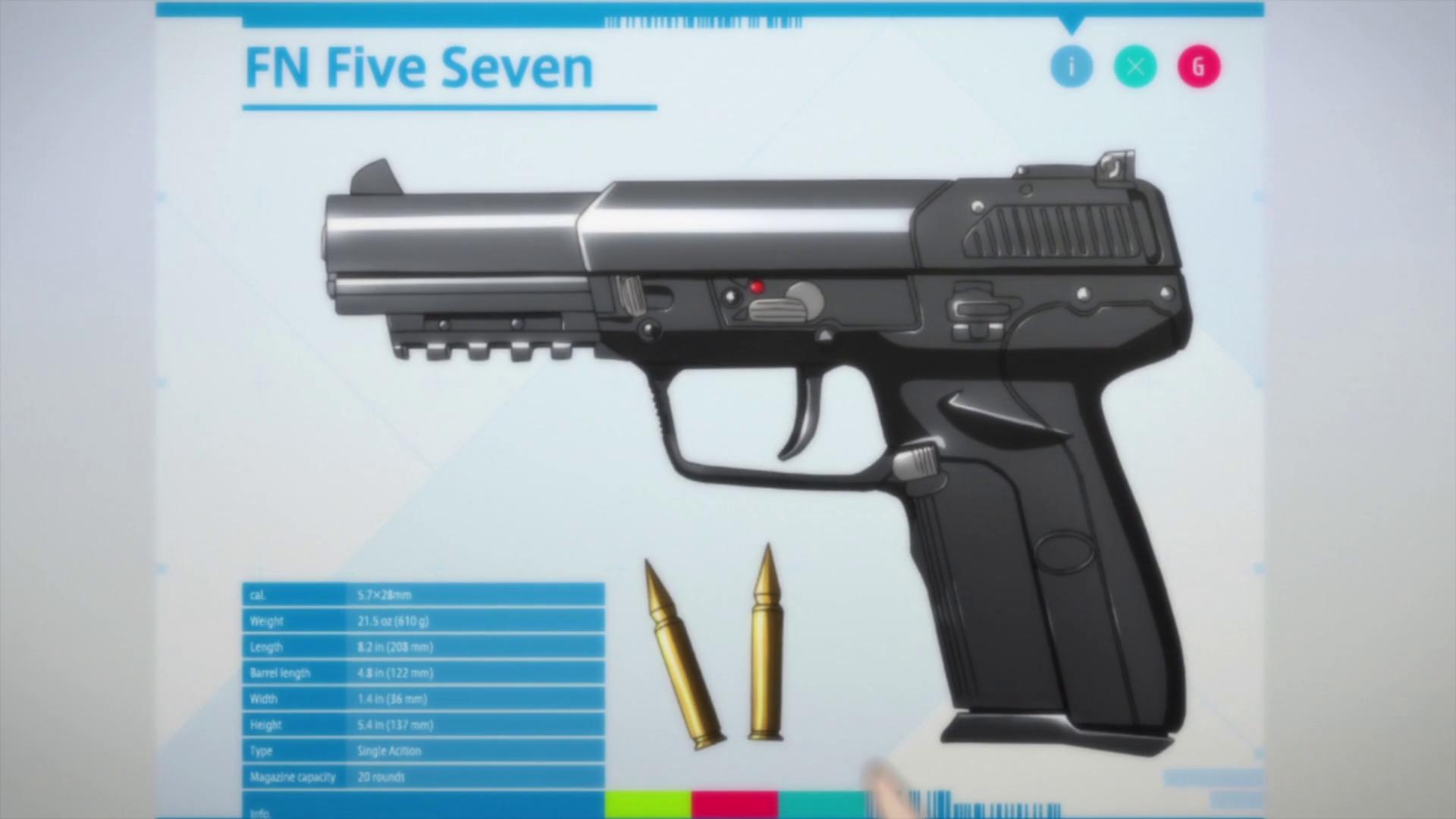 image   5 7mm fn five seven handgun png sword art online