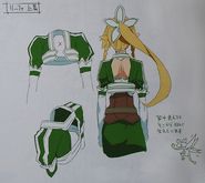 Leafa Anime Sword Art Online no Subete artbook