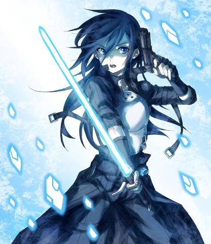 File:Kirito (GunGameOnline form).png