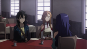 Asuna and Kirito meeting Yolko