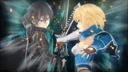 Kirito and Philia fighting