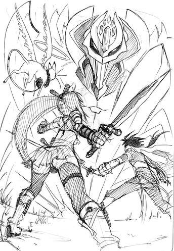 Final boss sketch by eudetenis-d5wry8p