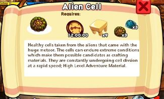 Alien Cell Text