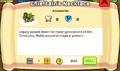 Chieftain's Necklace Text