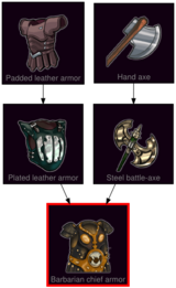 ResearchTree Barbarian chief armor