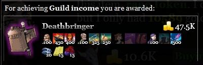 Guild income achievement reward