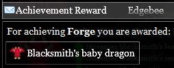 Forge achievement reward