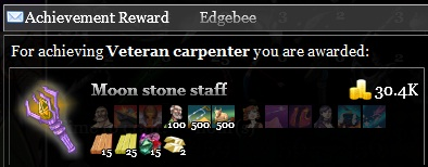 Veteran carpenter achievement reward