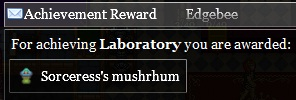Laboratory achievement reward for sorceress workshop