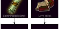 Meteor shower scroll