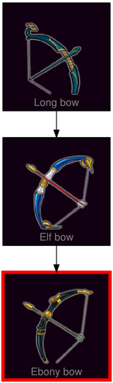 ResearchTree Ebony bow