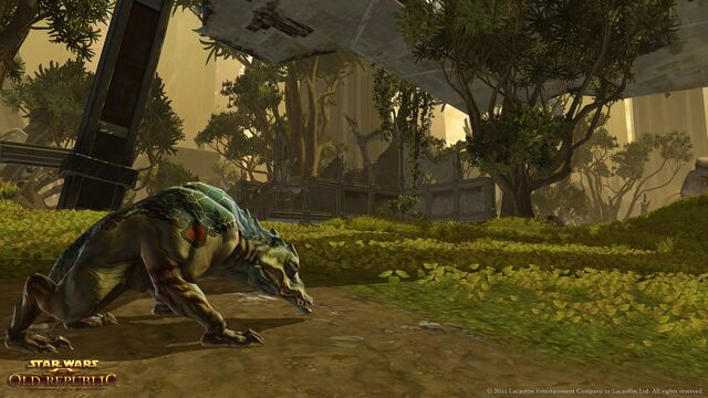 Datei:Ferrazid Hound prowls the undergrowth on Taris.jpg