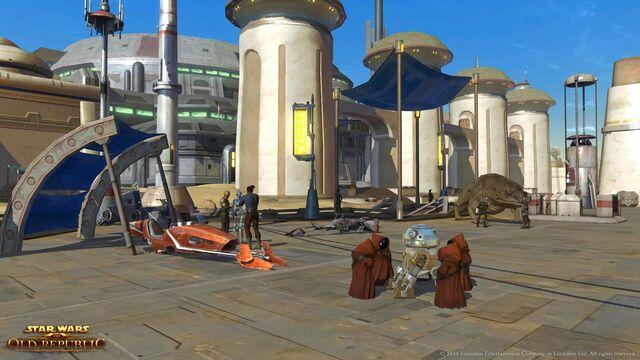 Datei:Jawas inspect an astromech droid.jpg