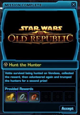 File:SWTOR Treasure Hunting mission complete - Hunt the Hunter.jpg