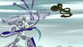 Sym-Bionic Titan (mech) using Cronus Chain against the Dragon Creature in Disenfranchised 03.png