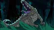 Mutant Crocodile in The Demon Within