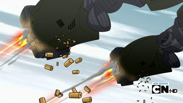 File:The H.E.M.R's machine guns in The Steel Foe.png
