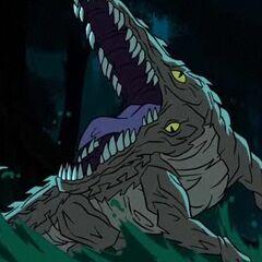 An infected crocodile.