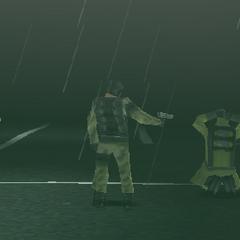 Terrorist holding two CBDC agents hostage
