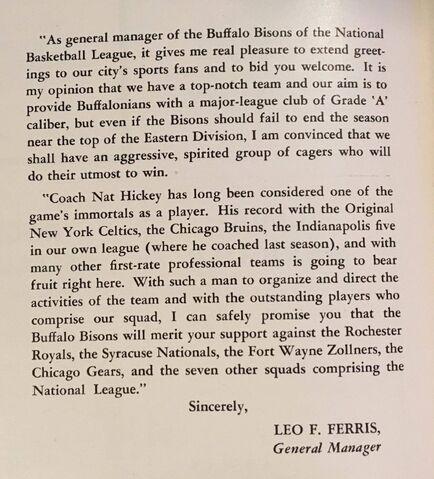 File:General Manager Bisons Message, Leo Ferris.jpg