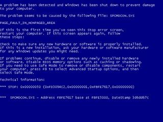 Windows XP BSOD