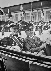 Miklós Horthy and Adolf Hitler 1938