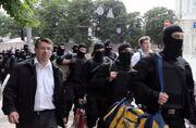 Oleh Odnoroshenko with «Azov» volunteers