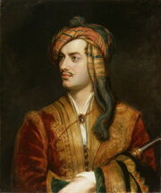Lord Byron in Albanian dress