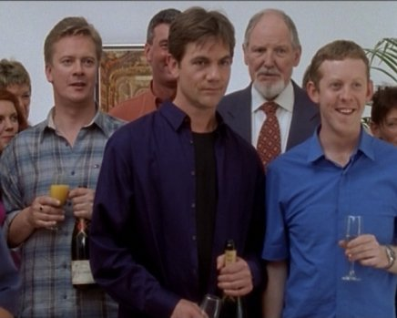 File:A less than happy Robbie at Jackie and Brian's engagement party.jpg