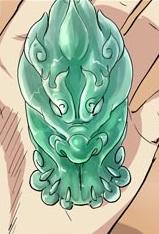 Fire Qilin Jade Waist Pendant