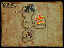 Green Scarp map
