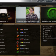 The old content of the home page. The poll and the old design of the top clans list can be seen