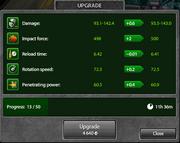 Micro-upgrades popup Railgun M2