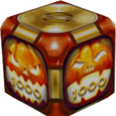 A special gold box, used in the Halloween celebrations of 2015