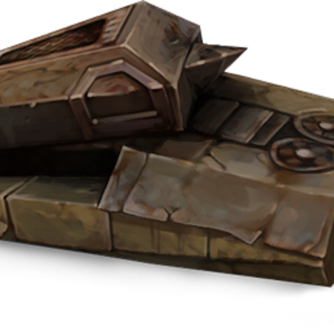 The destroyed tank from the 404 error message