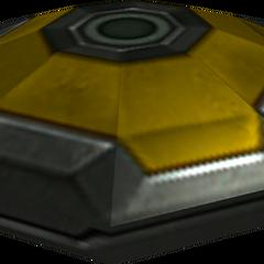 A yellow mine