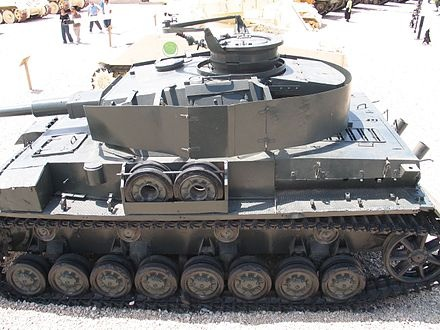 File:A panzer IV with spaced armor around the turret.jpg