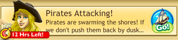 Pirates attacking quest log